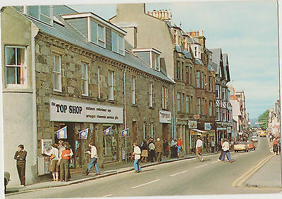 Postcard The High Street Fort William Inverness-shire 1970s? People Fashion Cars