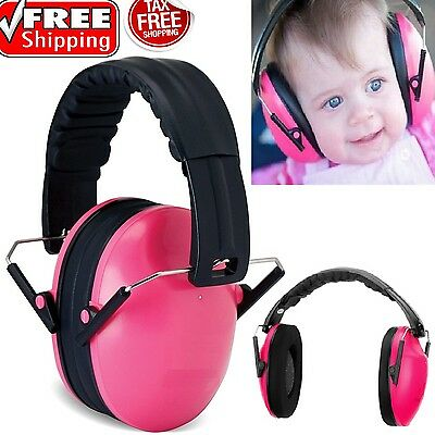 Pink Baby Earmuff Noise Sound Cancelling Ear Protector Toddler Hearing Safe Muff