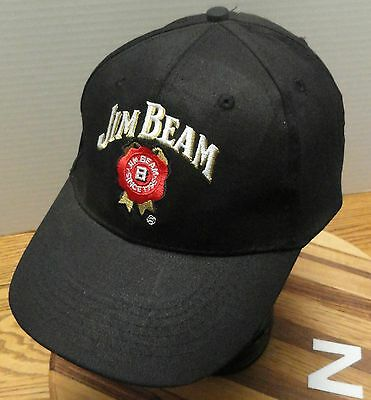 Mens Jim Beam Bourbon Whiskey Hat Brown Velcro Back In Excellent Condition