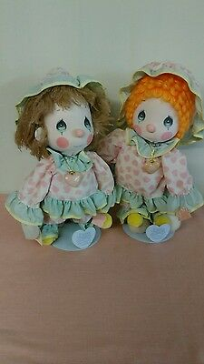 "Precious Moments - 12"" Soft Clown Dolls - Donny and Peggy"