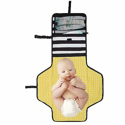 Baby Diaper Changing Pad Clutch - Portable Diaper Changing Station for Baby Mat