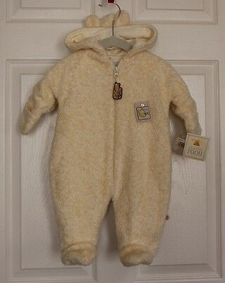 NWT Classic Pooh Unisex Hooded Snowsuit Ivory Baby Infant Size 3 M Months Disney