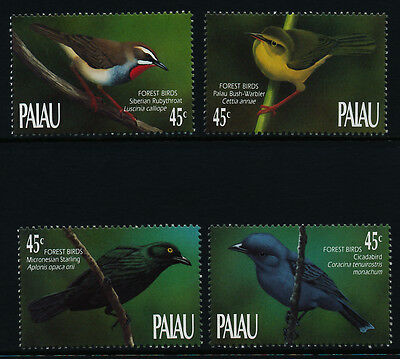 Palau 231-4 MNH Birds of the Forest