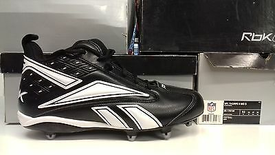 be19ee72d9036e REEBOK MEN S NFL Thorpe 3 D Football Cleats Black White -  79.99 ...