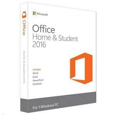 Microsoft Office Home and Student 2016 Medialess 1 User 1 Install Word,