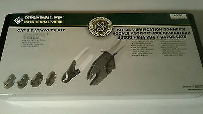 """Greenlee 46001 Kit 9"""" Ratcheting Crimpers Cable Cutters 4 Dies Brand New"""