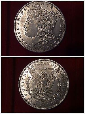 USA Morgan Dollar / Dollaro 1881 O - New Orleans qFDC about Uncirculated ARGENTO