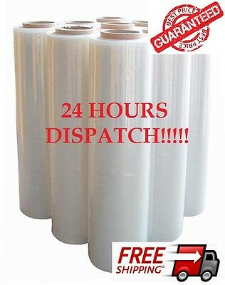 Strong Rolls Clear Pallet Stretch Shrink Wrap Parcel Packing Cling Film New