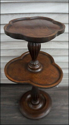 Beautiful rare 2 Tier Pedestal Side Table Table Plant Stand from France