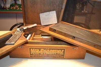 Neo-Cyclostyle copying machine Gestetner Manufacturing Company, wood box,ca 1890