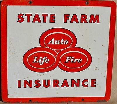 State Farm Insurance...TIN LITHO 2 SIDE SIGN From the late 50's
