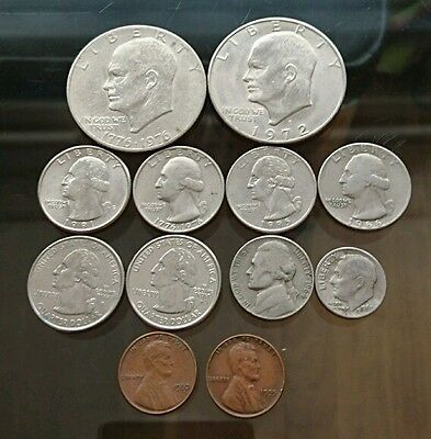 A Collection of USA Coins Dollars, Quarters, Cents Look!!!