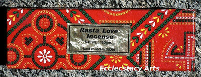 Rasta Love Incense Sticks Bulk 100 grams Hand Rolled Sweet Nag Champa Scent