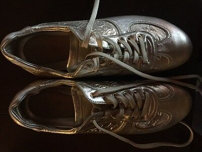 Authentic LOUIS VUITTON Women's Shoes/Sneakers Leather Gold Size 8