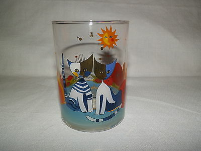 R.Wachtmeister Goebel Handmade Glass with Cats Signed