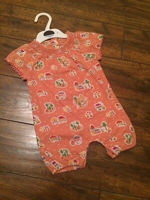 New baby girls ex high st stunning summer outfit vintage pretty playsuit