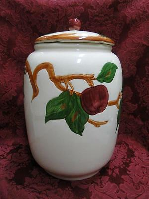 "Franciscan Apple (USA): Cookie Jar with AS IS Lid, 8 3/4"" tall"