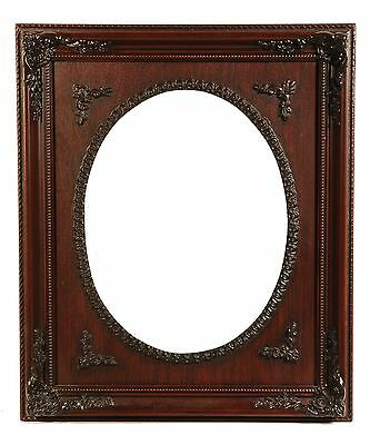 Picture Frame 11x14 Square Deluxe Ornate w/ Oval Opening Includes Bubble Glass