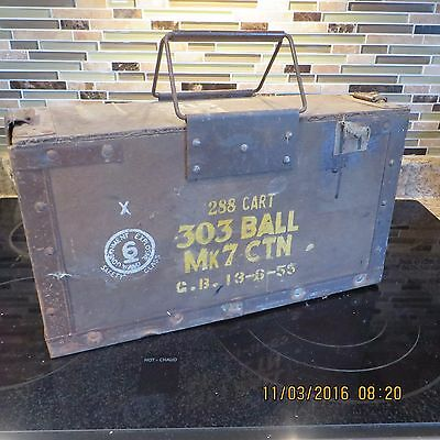 Antique Military Munnitions Box ~ Great Collectible Item!