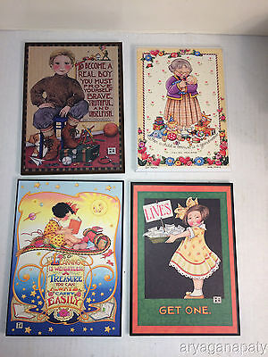 Mary Engelbreit Colorplak Wall Hanging Decor Lot of 4 Wall Decorations
