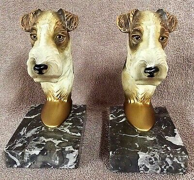 Wire Fox Terrier Bookends - Lot FT2
