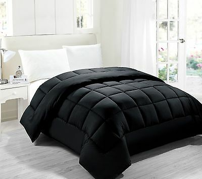 Black Down Alternative Comforter, Hypoallergenic anti-dust mite anti-bacterial