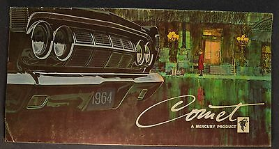1964 Mercury Comet Brochure Caliente 404 202 Villager Wagon Nice Original 64