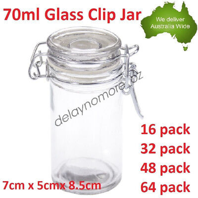 70ml Spice Mini Glass Jars with Clip Lid Bottle Jam Storage Container Jar Party
