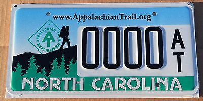 MINT North Carolina Sample Graphic License Plate; Speciality; Appalaichan Trail