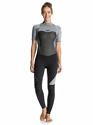 Roxy™ Syncro 2/2mm - Back Zip Short Sleeve Full Wetsuit - Mujer
