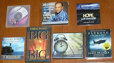 Lot of 7 Audiobooks on CDs - Non-Fiction ~ Bill O'Reilly, Charles Stanley, etc..