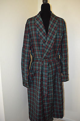 Mens Pendleton Robe Authentic Malcolm Tartan Green Plaid Wool Size Large