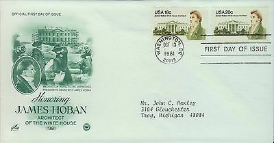 1981 - Fdc - Honoring James Hoban Architect Of The White House 1981