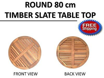Round 80cm Timber Dining Side Coffee Table Top | Indoor Outdoor Cafe Restaurant