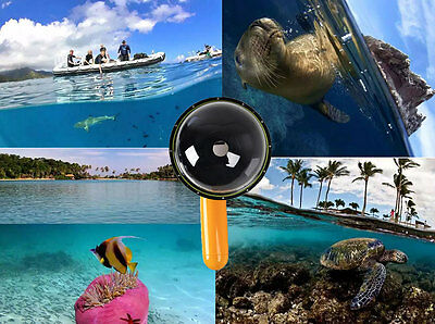 Dome Port Cover Underwater Photography Diving for GoPro Hero 4 3  3 Camera
