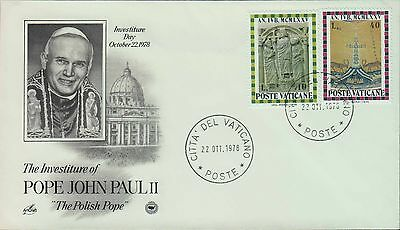 1978 - Fdc - The Investiture Of Pope John Paul Ii - The Polish Pope - Variation