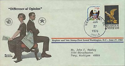 1978 - Norman Rockwell - Commemorative Society - Difference Of Opinion