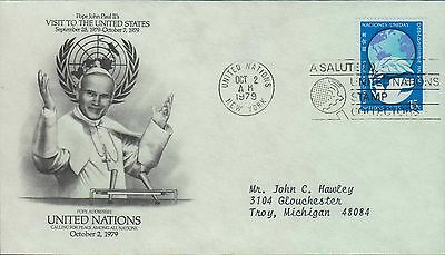1979 - Fdc - Pope Addresses The United Nations - October 2Nd 1979