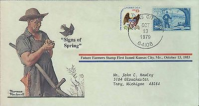 1979 - Norman Rockwell - Commemorative Society - Signs Of Spring