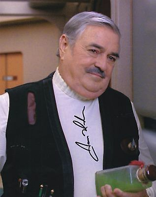 James Doohan Signed 8X10 Color Photo Star Trek Engineer Scotty Autograph
