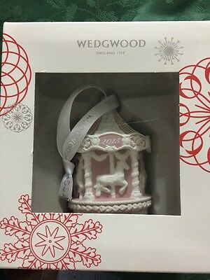 Wedgwood Pink and White Baby's First Christmas 2015