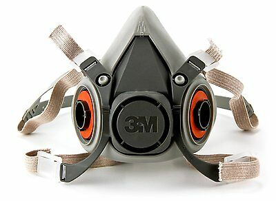 3M 6100 Half Mask Respirator Size Medium (Mask Only)
