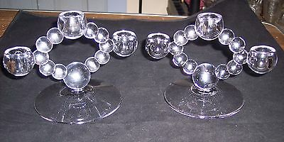 Pair of Imperial Candlewick, 3 light - Candle Holders in Sun Purple