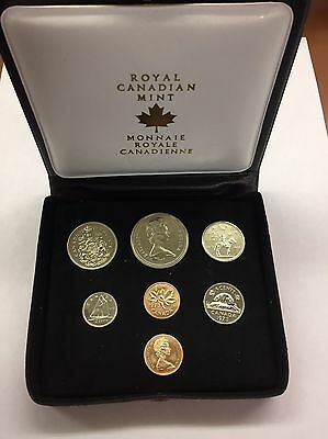 1973 Canada SPECIAL MINT PROOF 7 Coin Set W/ Original Packaging UNC - A