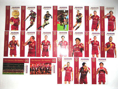Full Set 2015 Qld Maroons Iga Stand With Us Cards.