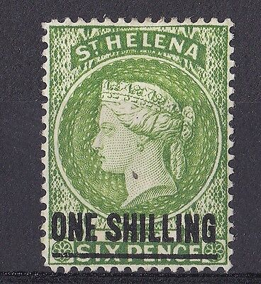 DB258) St. Helena 1894 1/- Yellow - Green SG 45