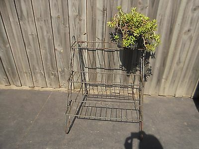 Vintage Retro wrought iron Metal Pot plant stand - Rustic & Rusty