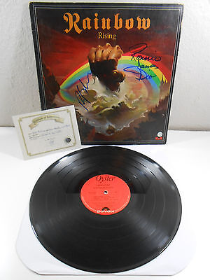 Rainbow Rising SIGNED by Dio and Ritchie Blackmore w.COA Polydor Oyster 1976