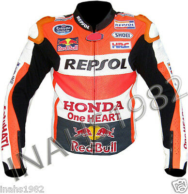 Honda Repsol Leather Racing Jacket( Chowhide Leather)
