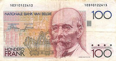 Belgium 100 francs  ND. 1982P 142a  circulated Banknote , E20